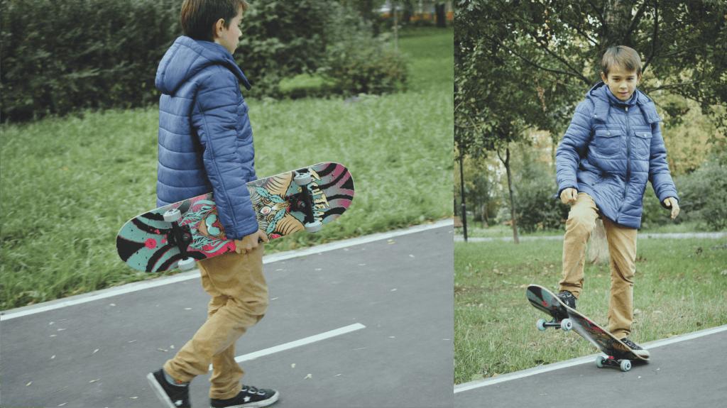 Мальчик на скейтборде