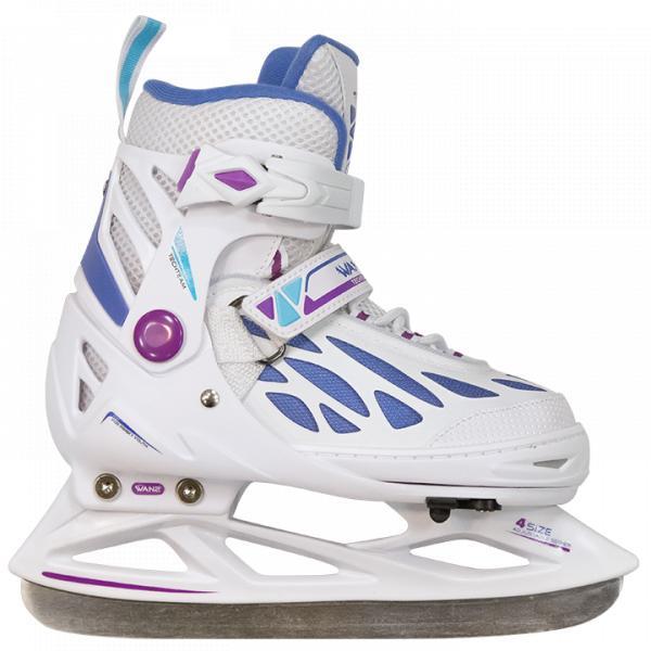 Раздвижные коньки WAN2 girl белые