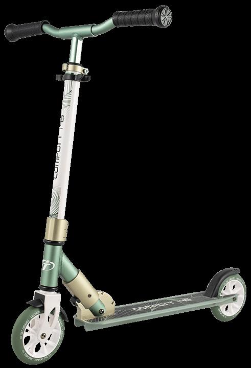 Городской самокат TechTeam Comfort 145R бело-зеленый