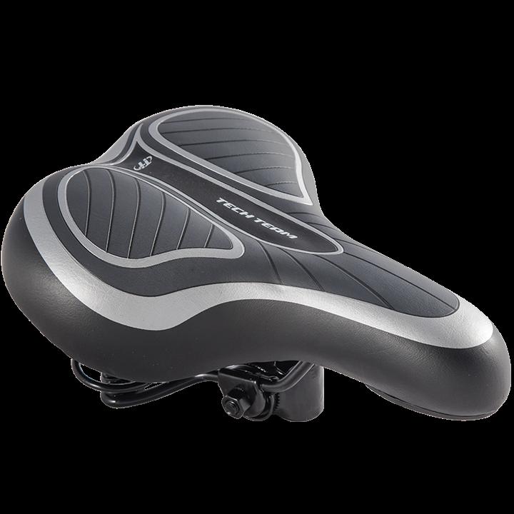 Cедло велосипедное комфорт 258х180 мм HF-0662