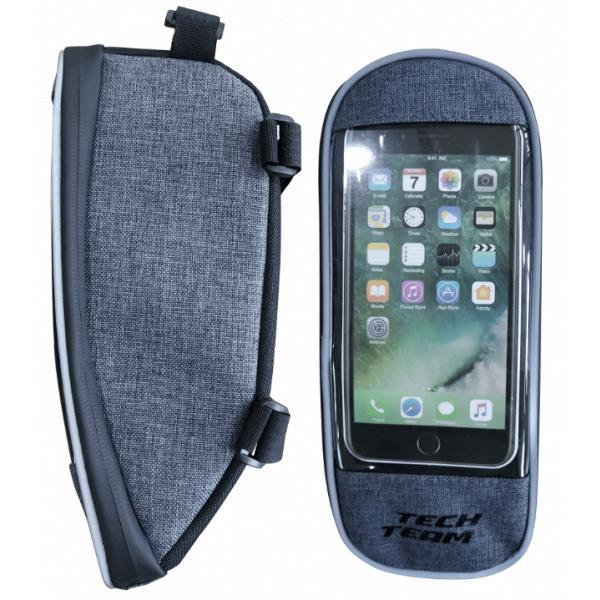 Сумка велосипедная на раму с карманом для смартфона (Артикул 85206)