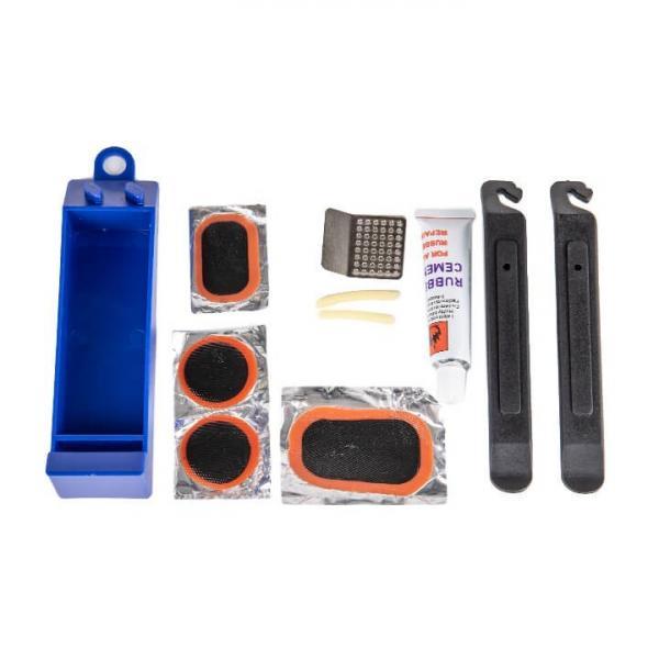 Ремкомплект: пластиковый кейс, клей, латки-4шт, затирка, лопатки-2шт. KL-9720E