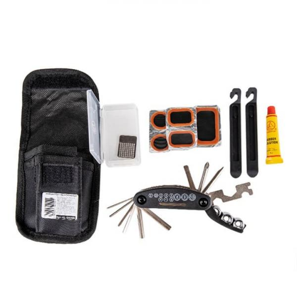 Ремкомплект: чехол, мультитул, клей, латки-5шт, затирка, лопатки-2шт. KL-9809B