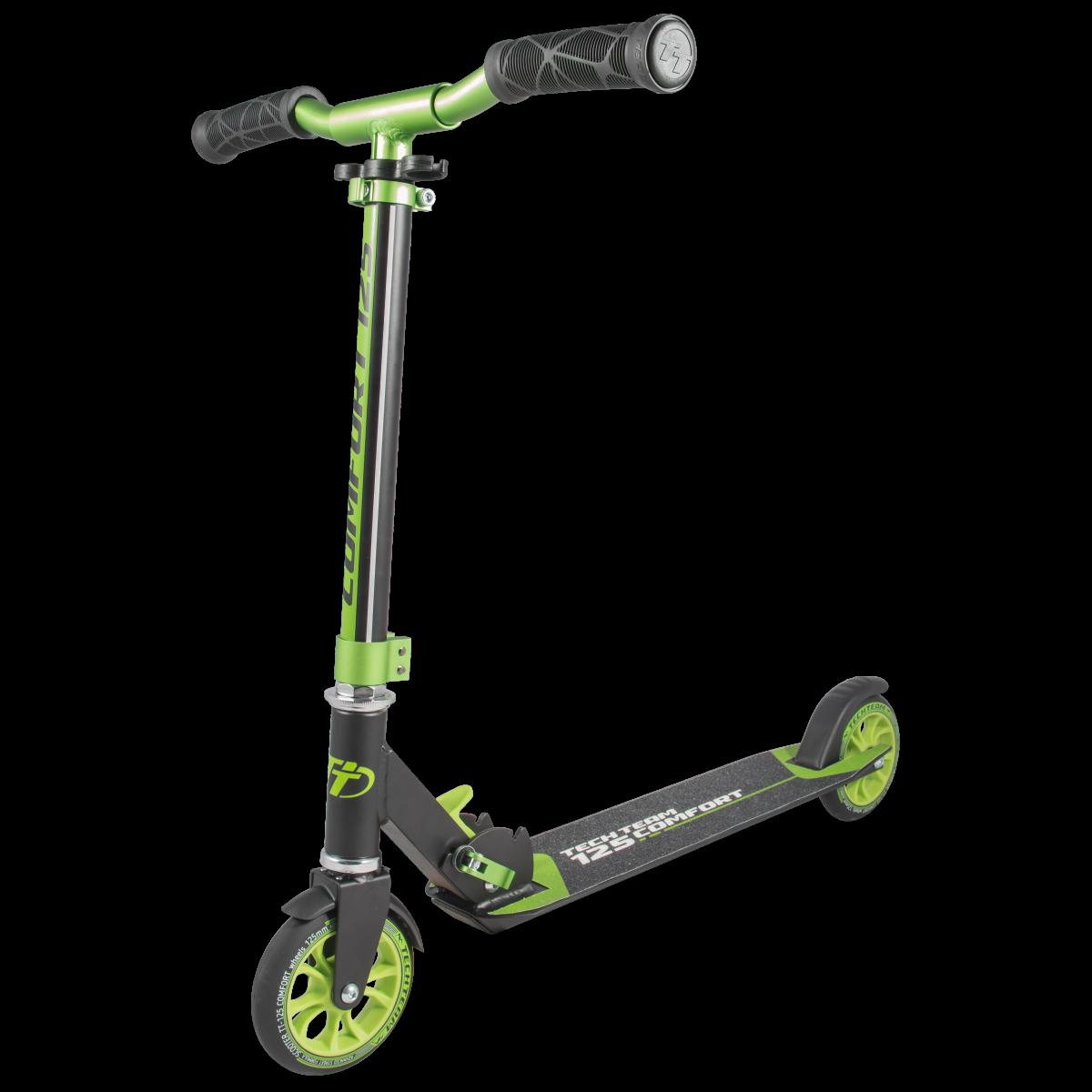 Самокат TechTeam 125 comfort 2019 черно-зеленый