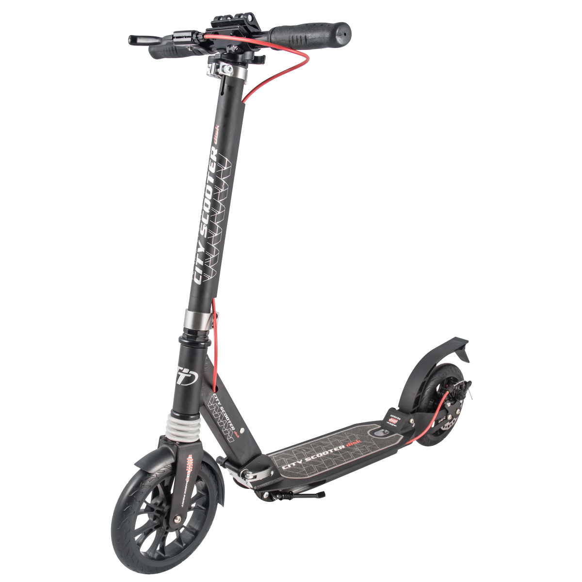 Самокат TechTeam City Scooter Disk Brake 2019 черный