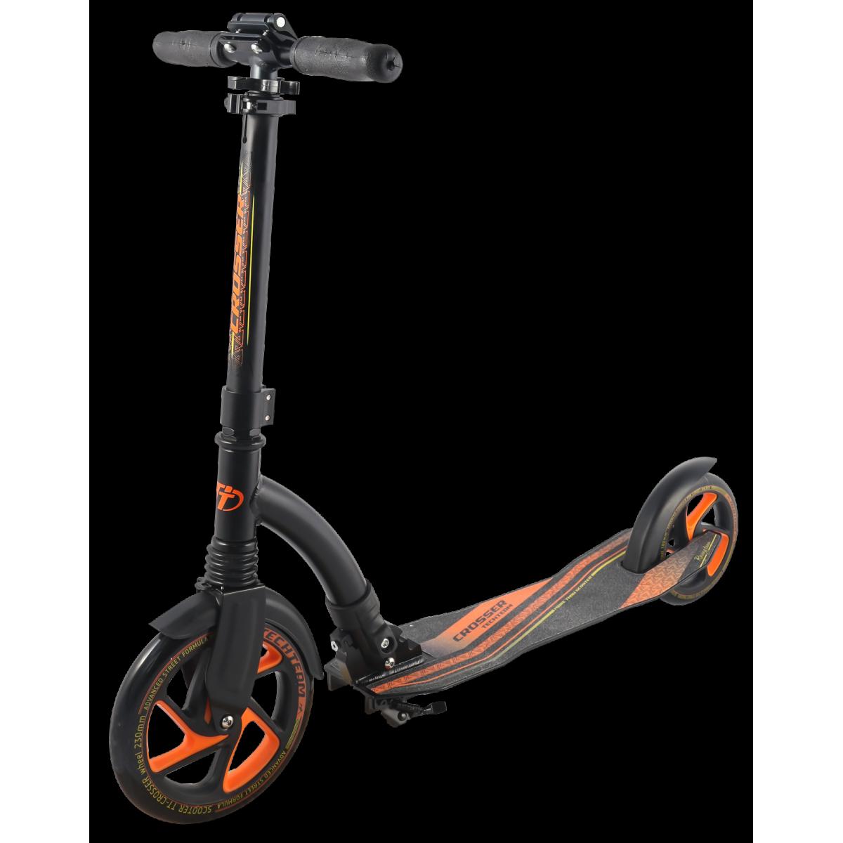 Самокат TechTeam Crosser 2019 черно-оранжевый