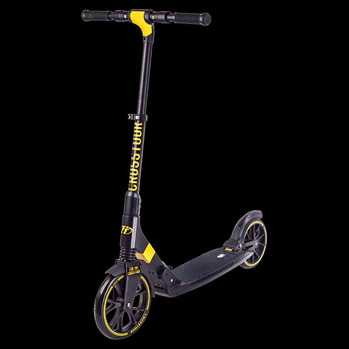 Самокат TechTeam Crosstour желто-черный