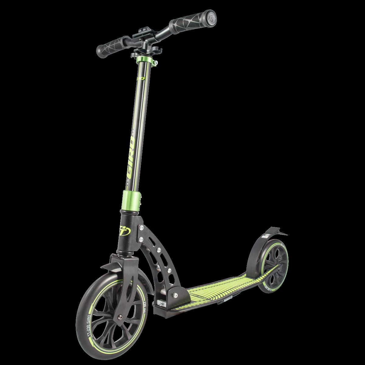 Самокат TechTeam Giro 2019 черно-зеленый