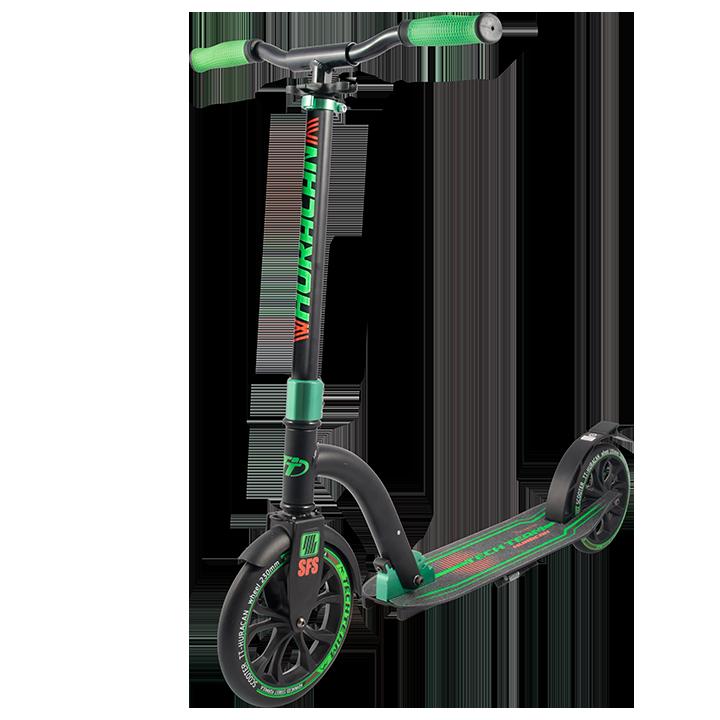 Самокат TechTeam Huracan 2018 черно-зеленый