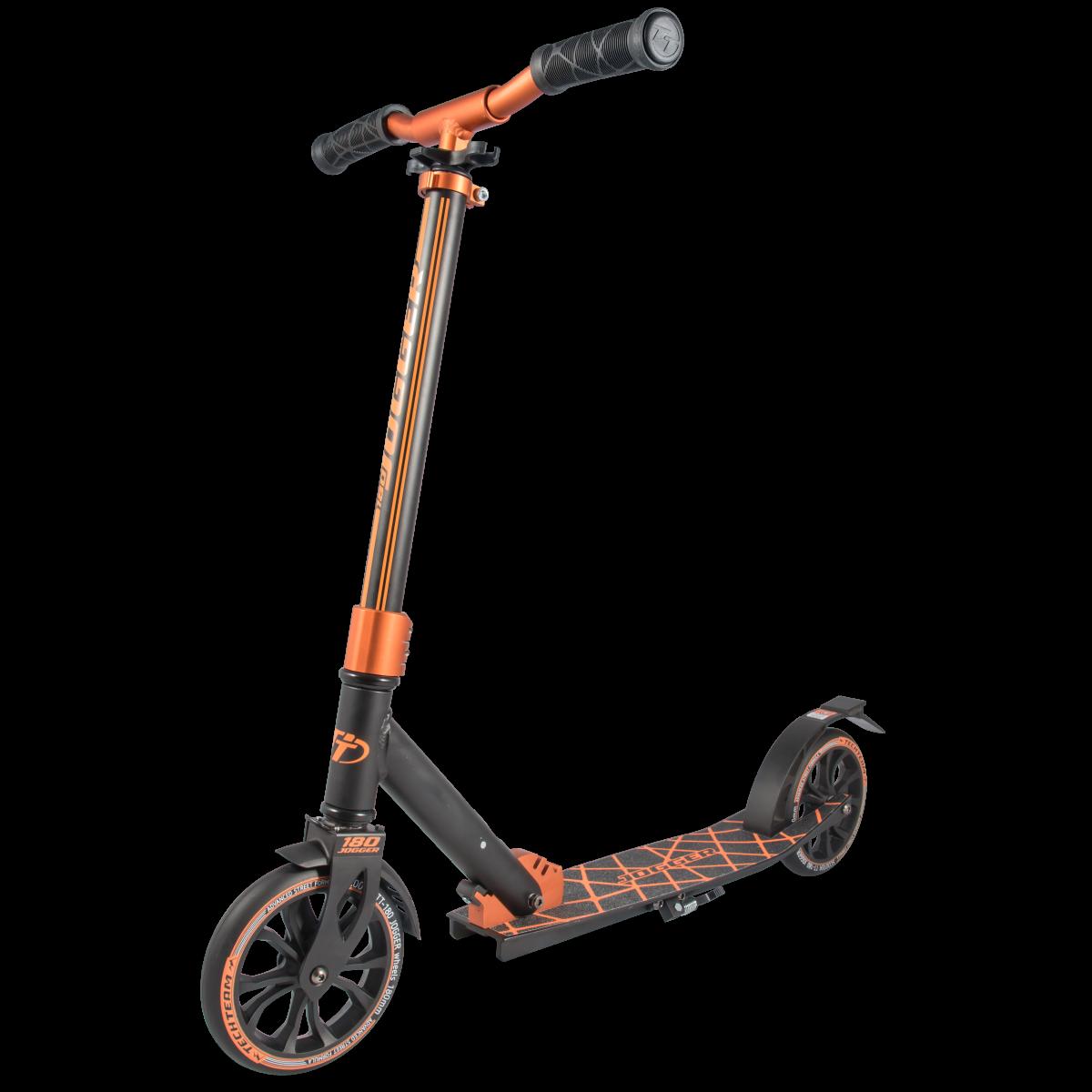 Самокат TechTeam Jogger 180 2019 черно-оранжевый