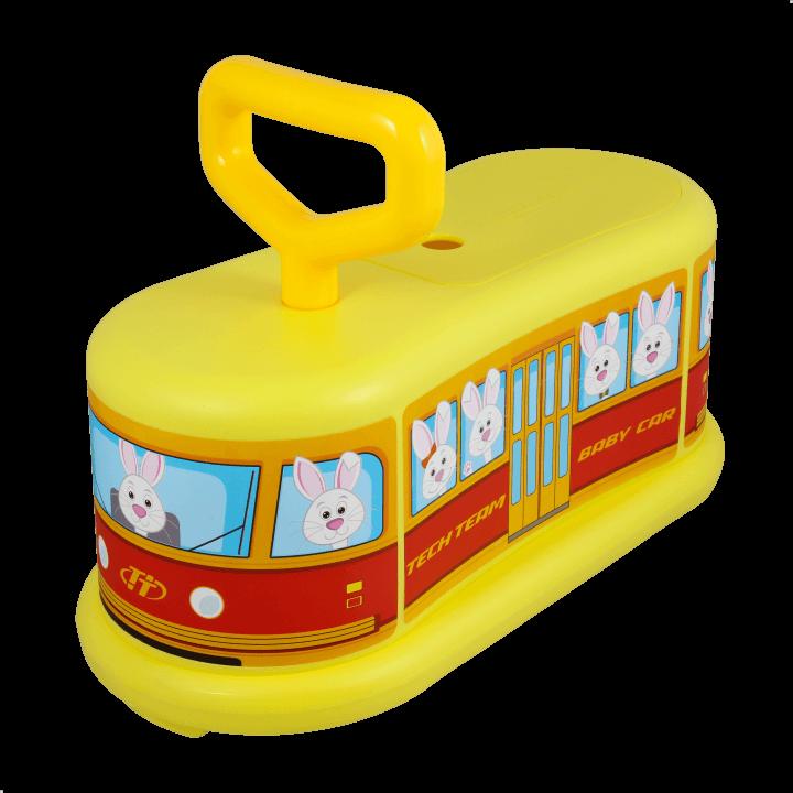 Детский самокат TechTeam Baby Car желтый