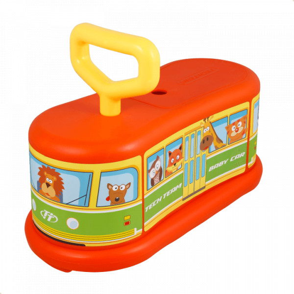 Детский самокат TechTeam Baby Car оранжевый