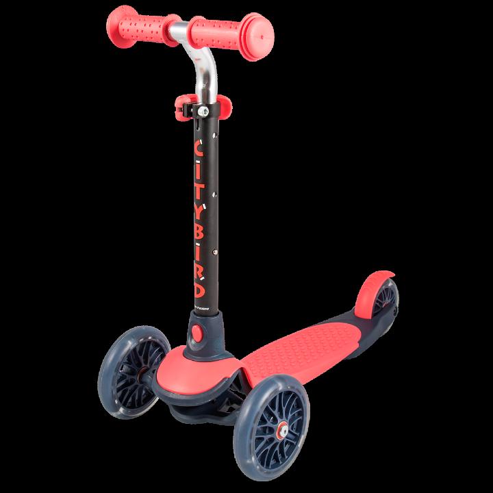Детский трехколесный самокат-кикборд TechTeam City Bird 2019 красный