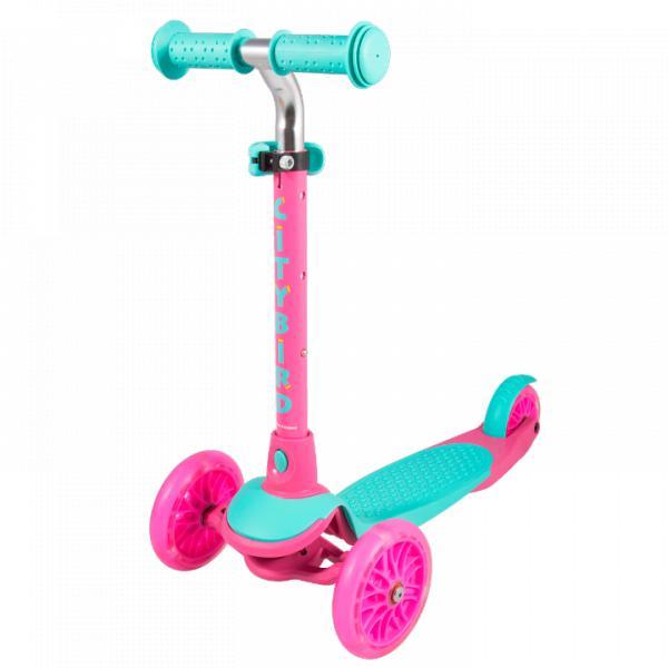 Детский трехколесный самокат-кикборд TechTeam City Bird 2019 розовый