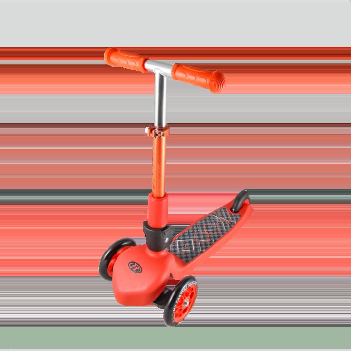Детский трехколесный самокат-кикборд TechTeam Cosmic Pro 2018 красный