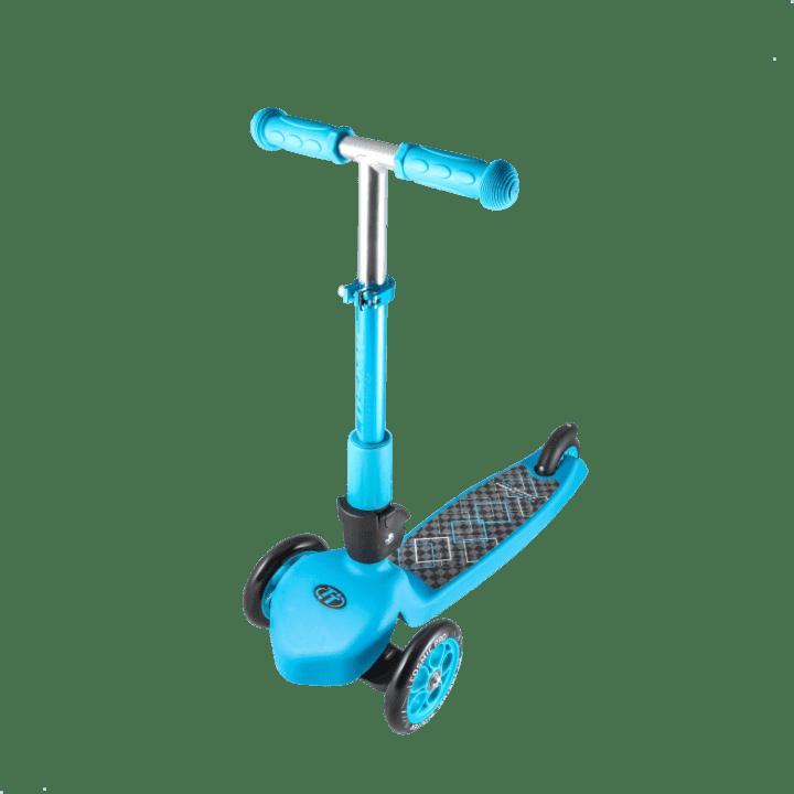 Детский трехколесный самокат-кикборд TechTeam Cosmic Pro 2018 голубой