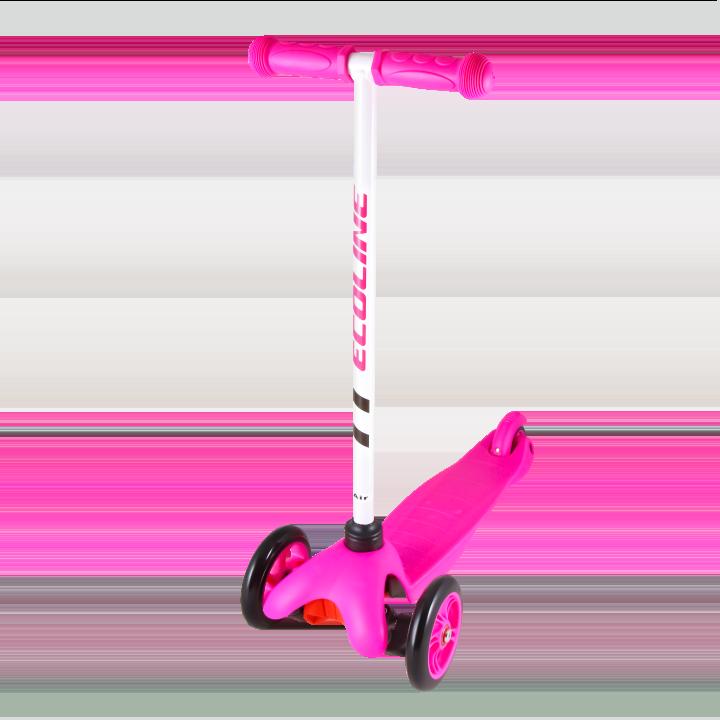 Детский трехколесный самокат-кикборд TechTeam Ecoline Air 2018 розовый