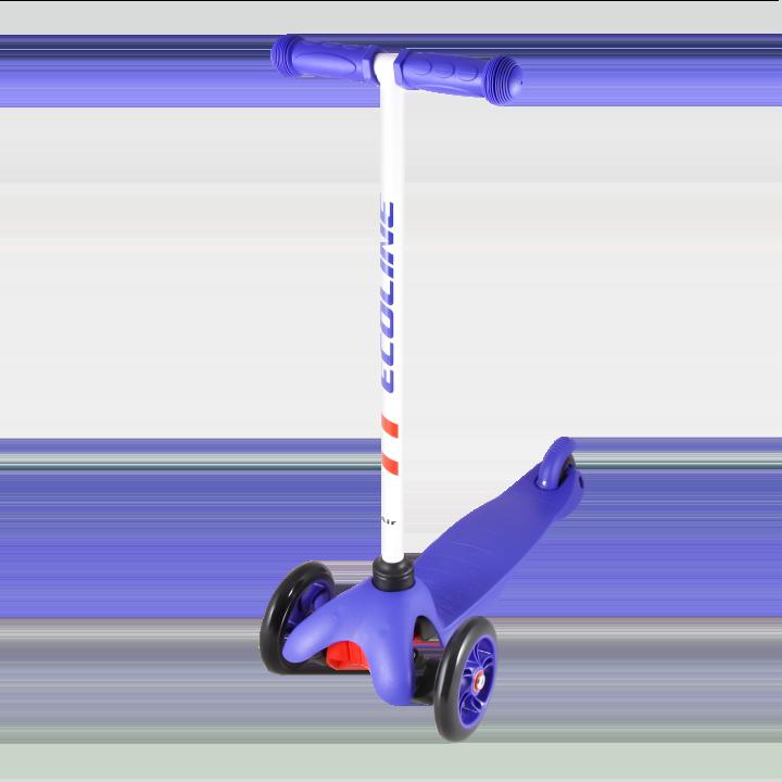Детский трехколесный самокат-кикборд TechTeam Ecoline Air 2018 синий
