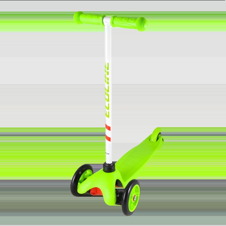 Детский трехколесный самокат-кикборд TechTeam Ecoline Air 2018 зеленый