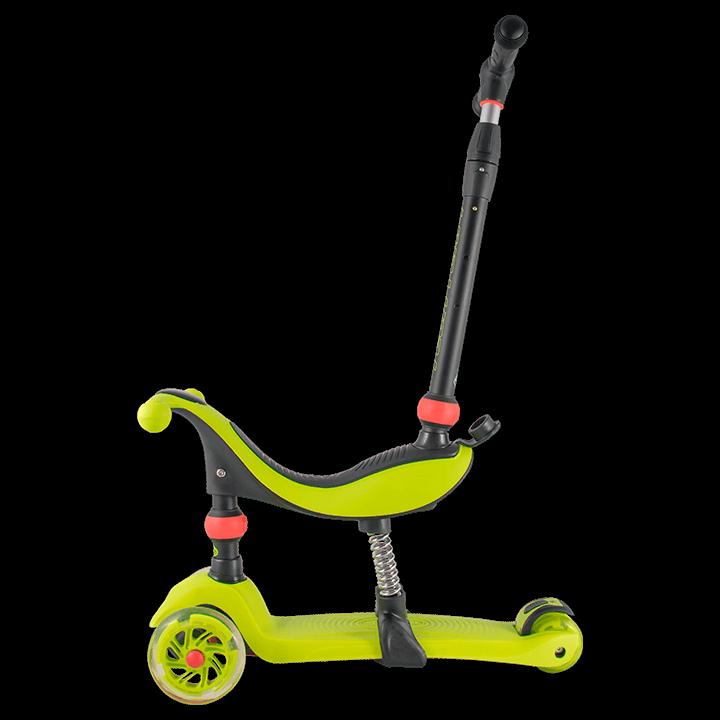 Детский трехколесный самокат-кикборд TechTeam Genius 2019 горчичный