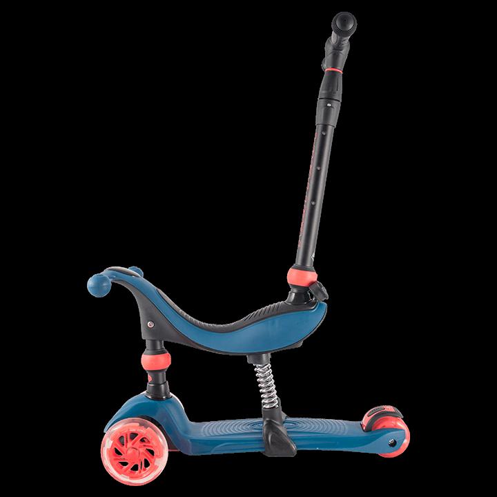 Детский трехколесный самокат-кикборд TechTeam Genius 2019 синий