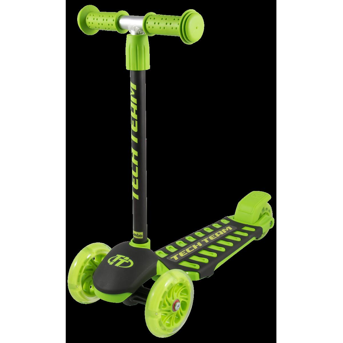 Детский трехколесный самокат-кикборд TechTeam Lambo 2019 зеленый