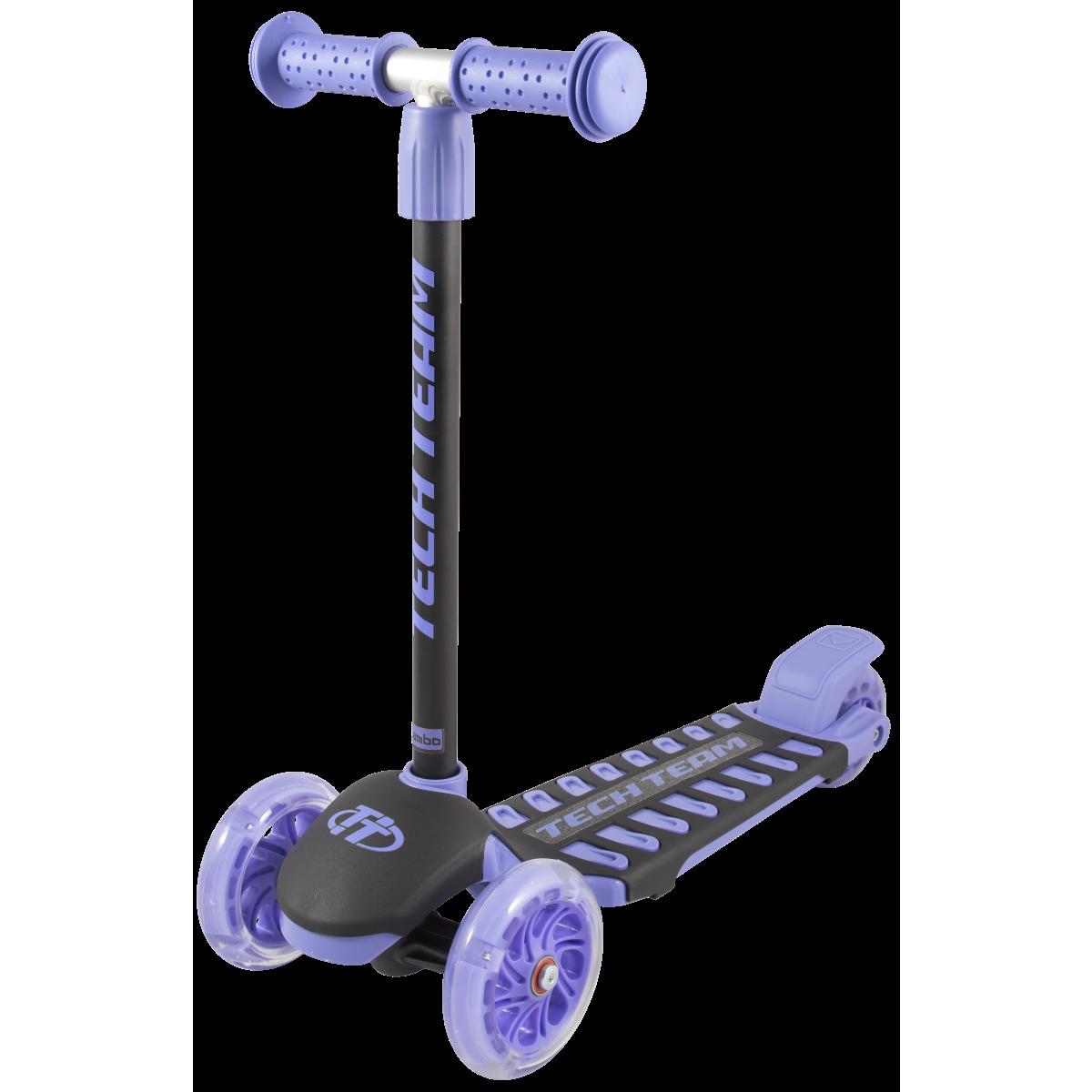 Детский трехколесный самокат-кикборд TechTeam Lambo 2019 фиолетовый