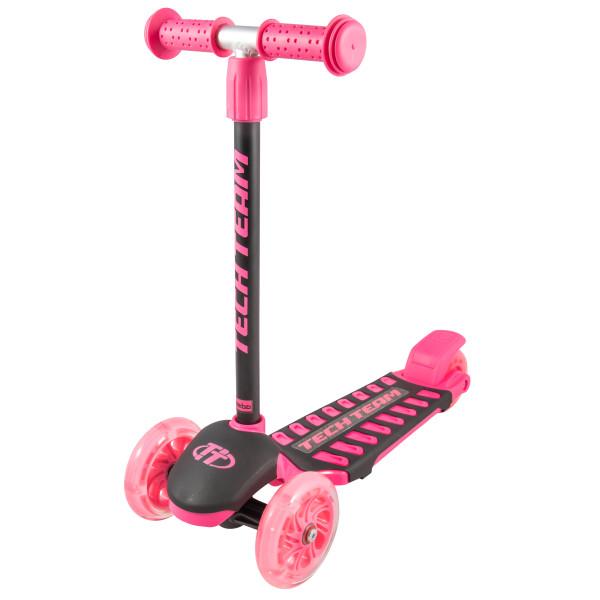 Детский трехколесный самокат-кикборд TechTeam Lambo 2019 розовый