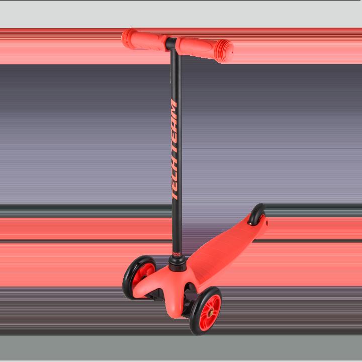 Детский трехколесный самокат-кикборд TechTeam Mini Scooter красный
