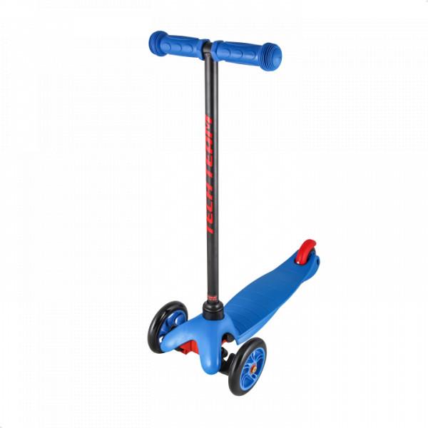 Детский трехколесный самокат-кикборд TechTeam Mini Scooter синий
