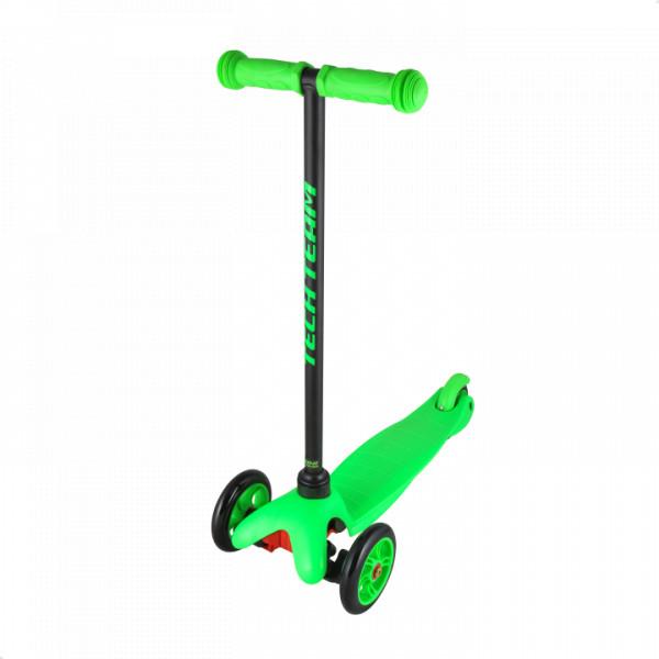 Детский трехколесный самокат-кикборд TechTeam Mini Scooter зеленый