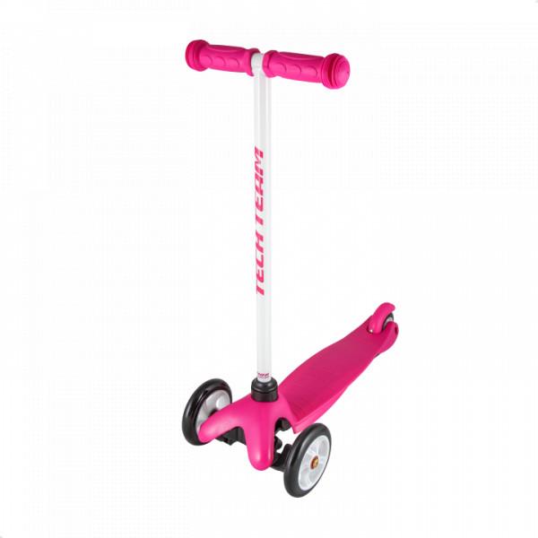 Детский трехколесный самокат-кикборд TechTeam Mini Scooter розовый