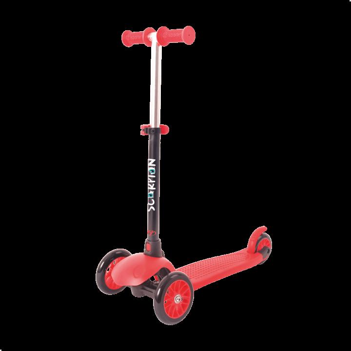 Детский трехколесный самокат-кикборд TechTeam Scorpion 2018 красный