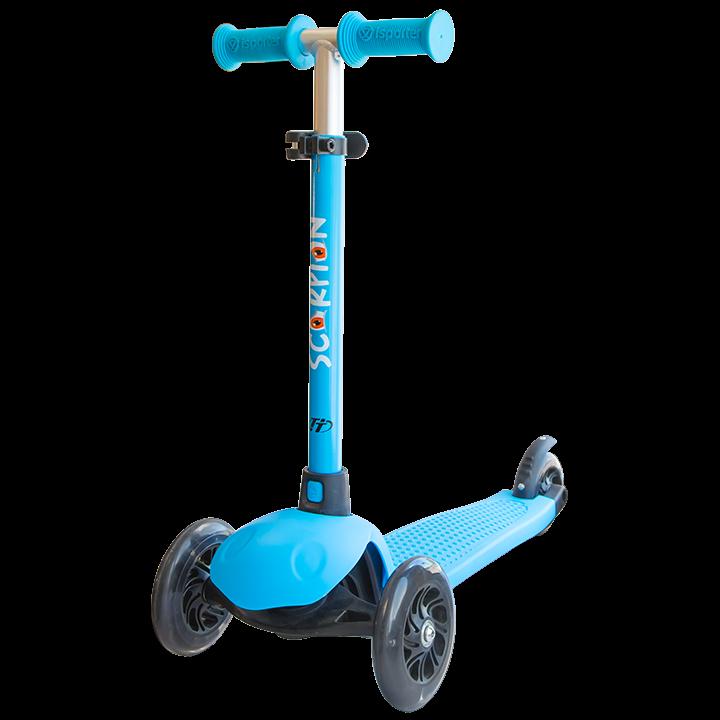 Детский трехколесный самокат-кикборд TechTeam Scorpion 2018 голубой 2
