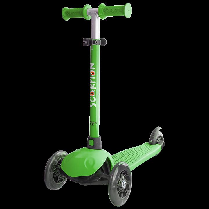 Детский трехколесный самокат-кикборд TechTeam Scorpion 2018 темно зеленый