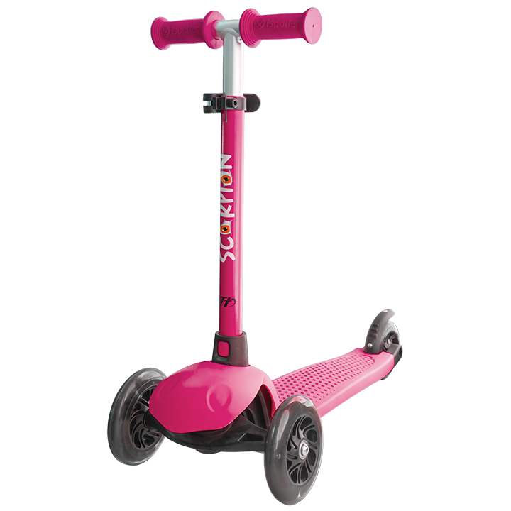 Детский трехколесный самокат-кикборд TechTeam Scorpion 2018 розовый