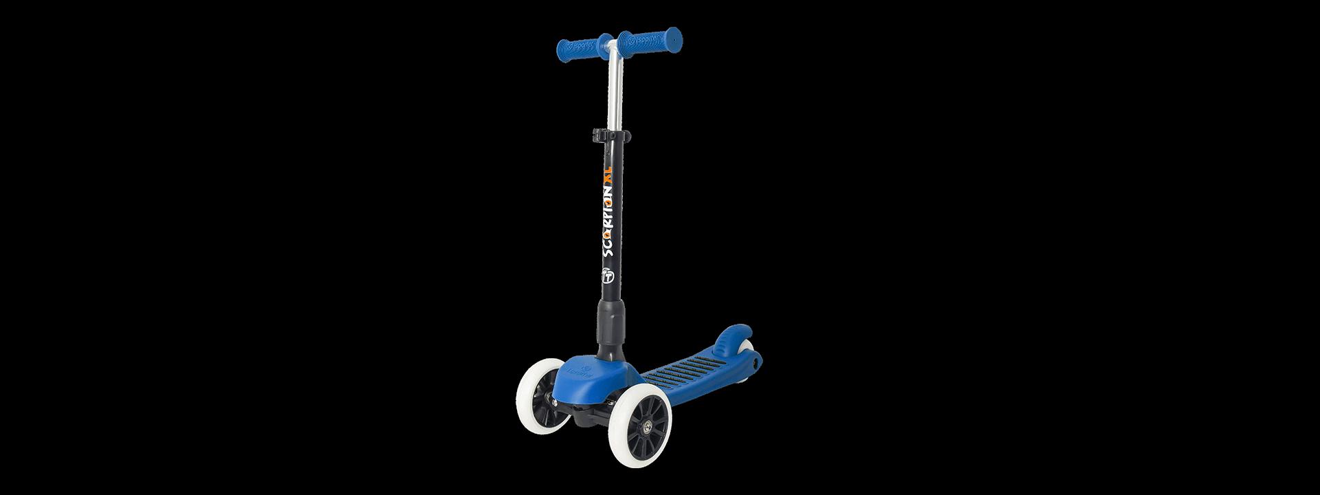 Детский трехколесный самокат-кикборд TechTeam Scorpion XL 2018 синий