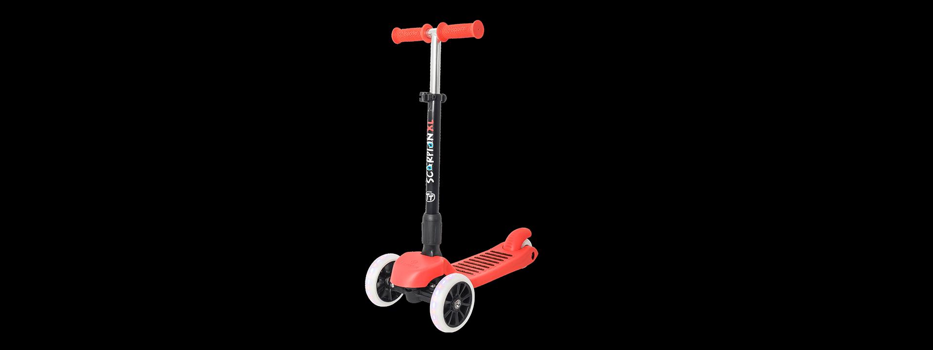 Детский трехколесный самокат-кикборд TechTeam Scorpion XL 2018 красный