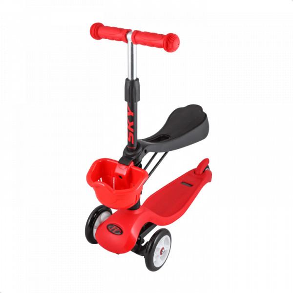 Детский трехколесный самокат-кикборд TechTeam Sky Scooter New красный