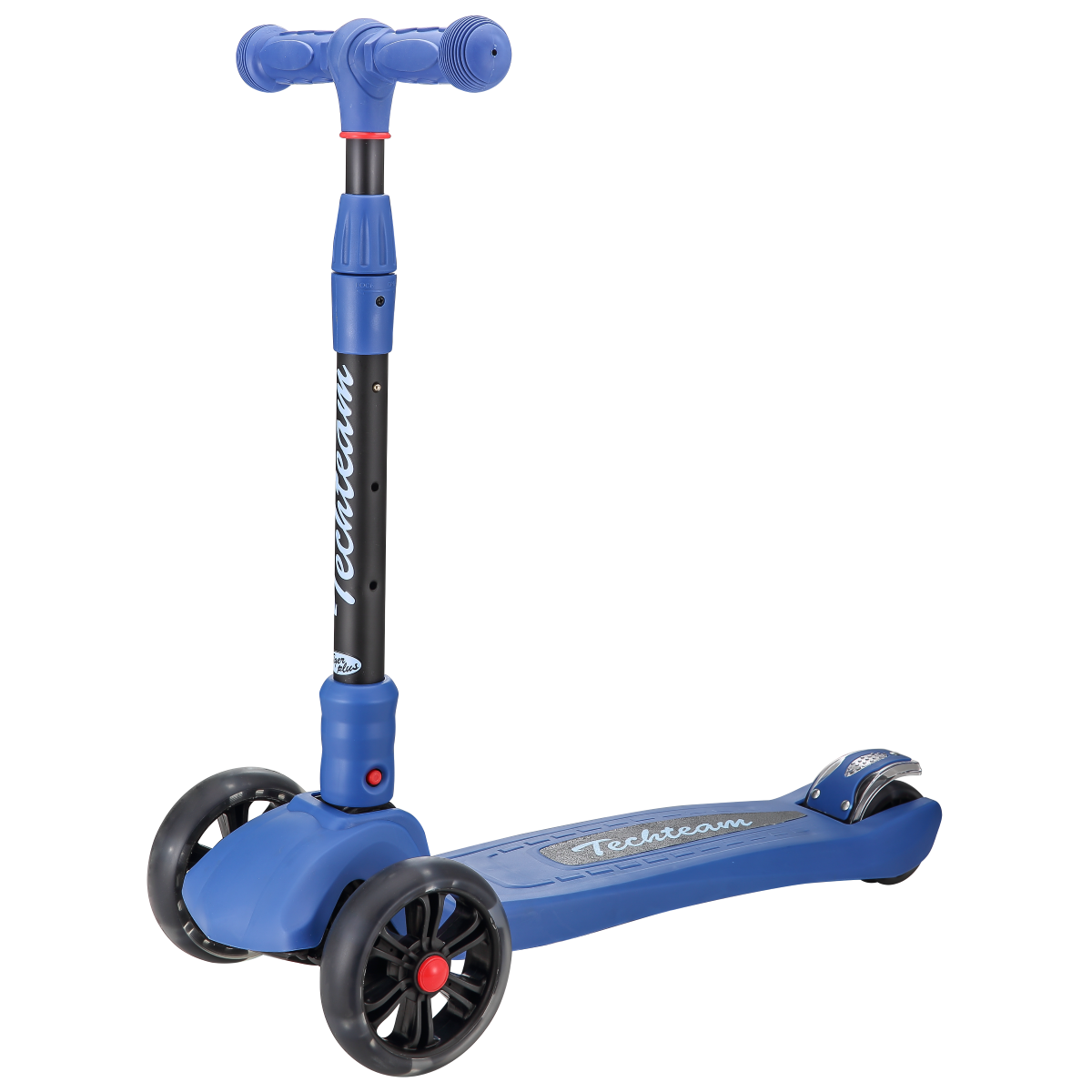 Детский трехколесный самокат-кикборд TechTeam Tiger Plus 2019 синий
