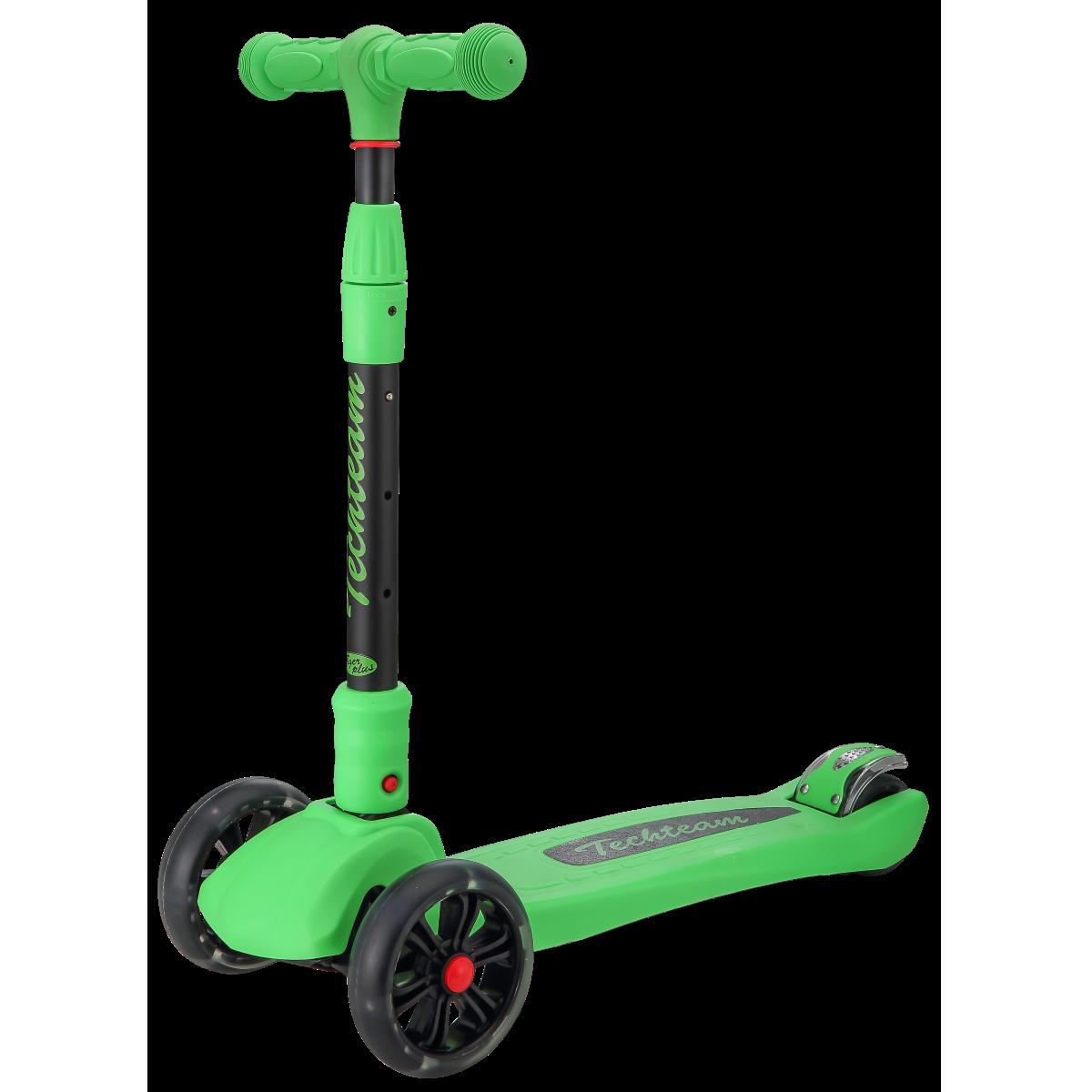 Детский трехколесный самокат-кикборд TechTeam Tiger Plus 2019 зеленый