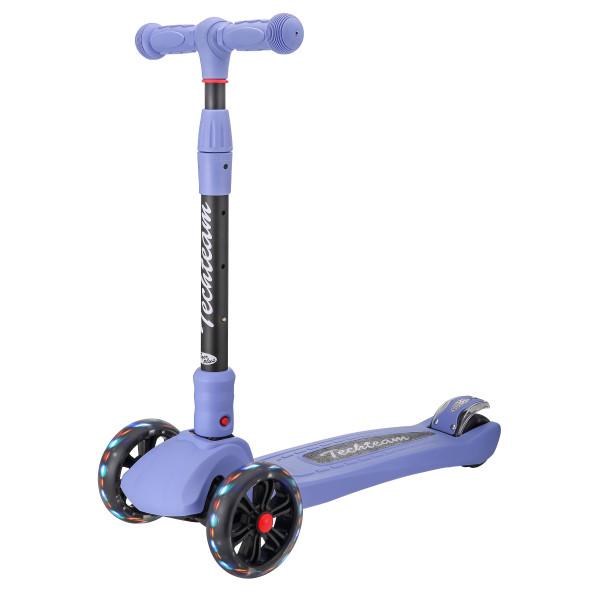 Детский трехколесный самокат-кикборд TechTeam Tiger Plus 2019 фиолетовый