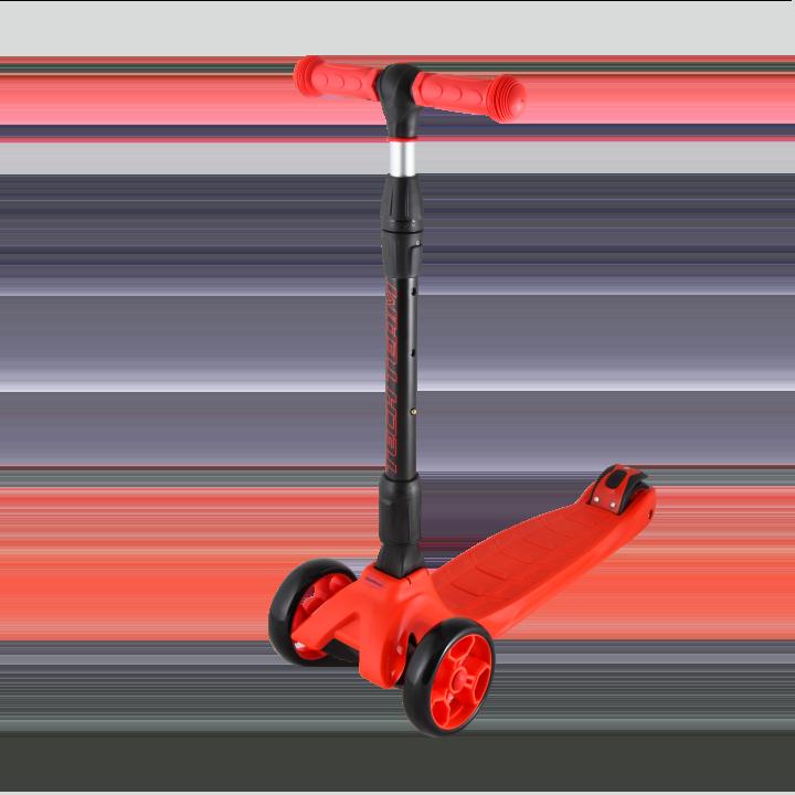 Детский трехколесный самокат-кикборд TechTeam Tiger Pro красный