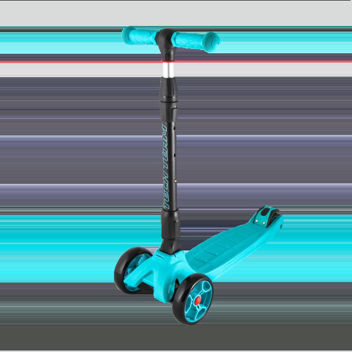 Детский трехколесный самокат-кикборд TechTeam Tiger Pro голубой