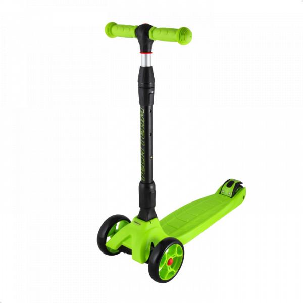 Детский трехколесный самокат-кикборд TechTeam Tiger Pro зеленый