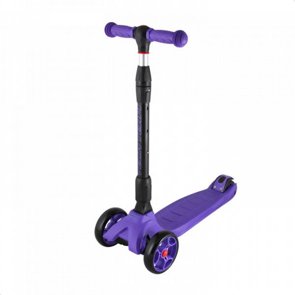 Детский трехколесный самокат-кикборд TechTeam Tiger Pro фиолетовый