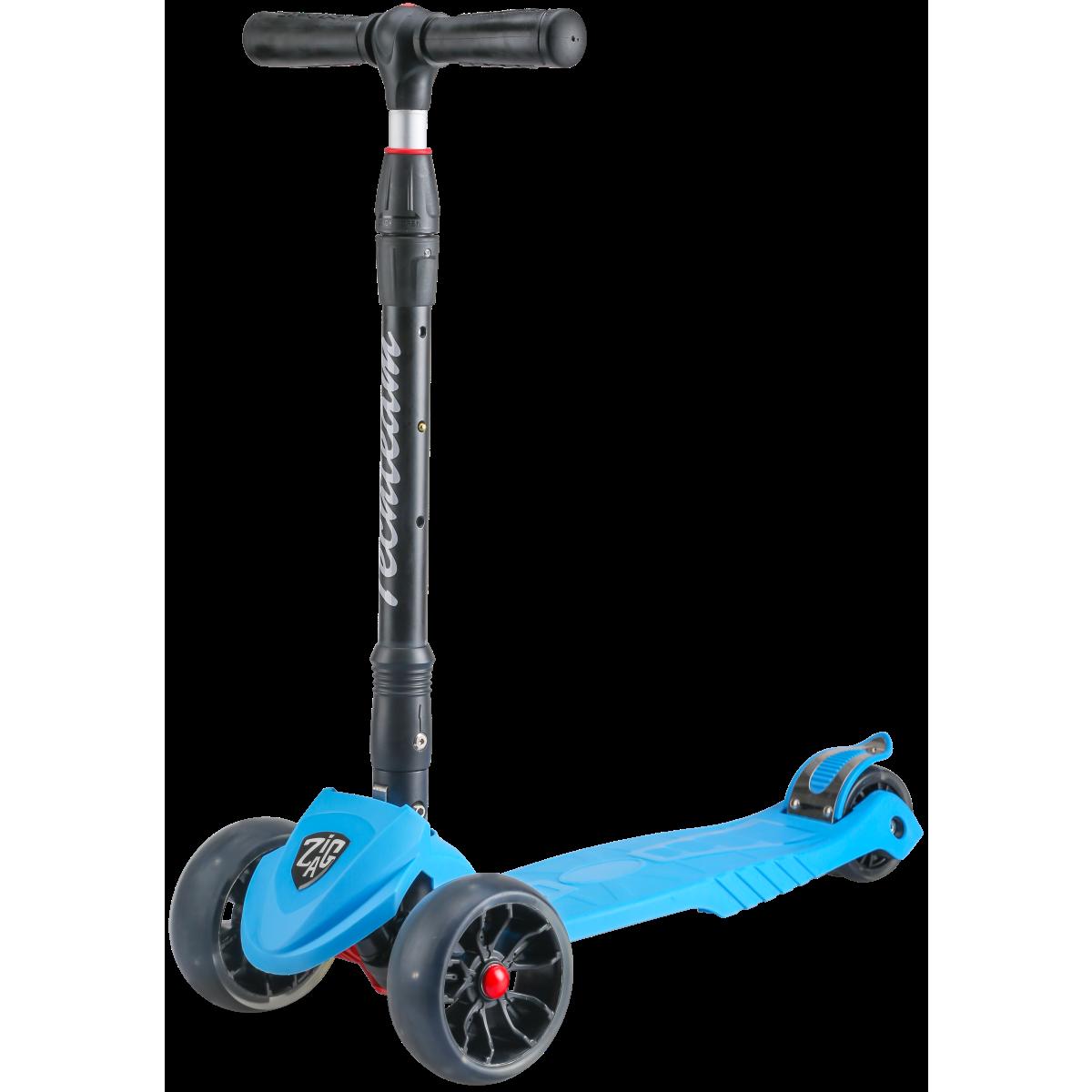 Детский трехколесный самокат-кикборд TechTeam Zig Zag 2019 синий