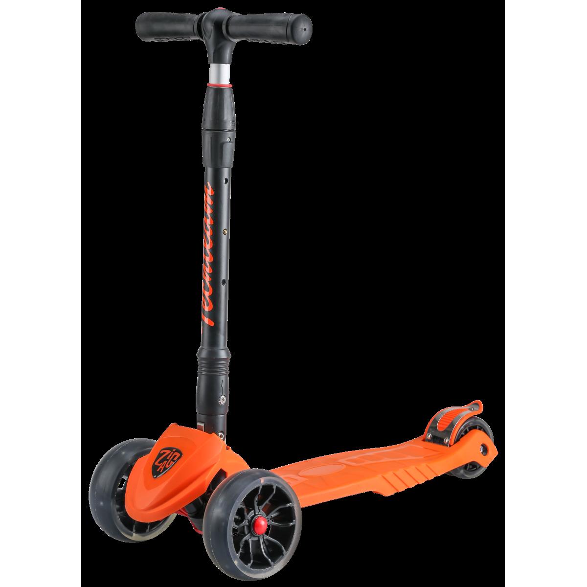Детский трехколесный самокат-кикборд TechTeam Zig Zag 2019 оранжевый