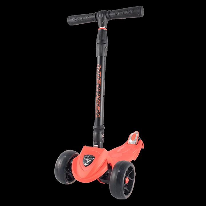 Детский трехколесный самокат-кикборд TechTeam ZigZag 2018 красный