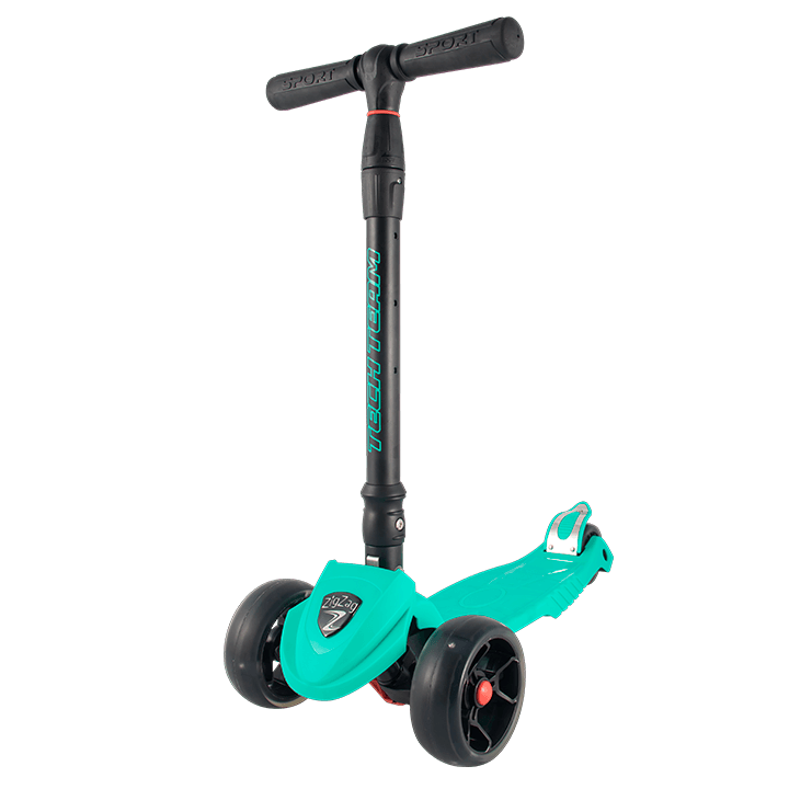 Детский трехколесный самокат-кикборд TechTeam ZigZag 2018 зеленый